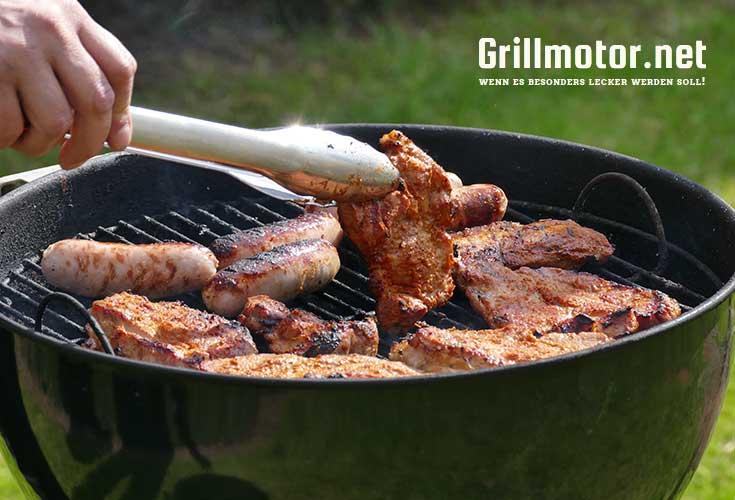 Ein BBG mit Fleisch ohne Grillmotor für Weber Grill